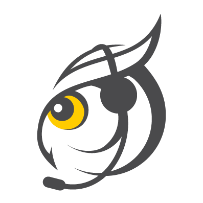 owl with headset support icon